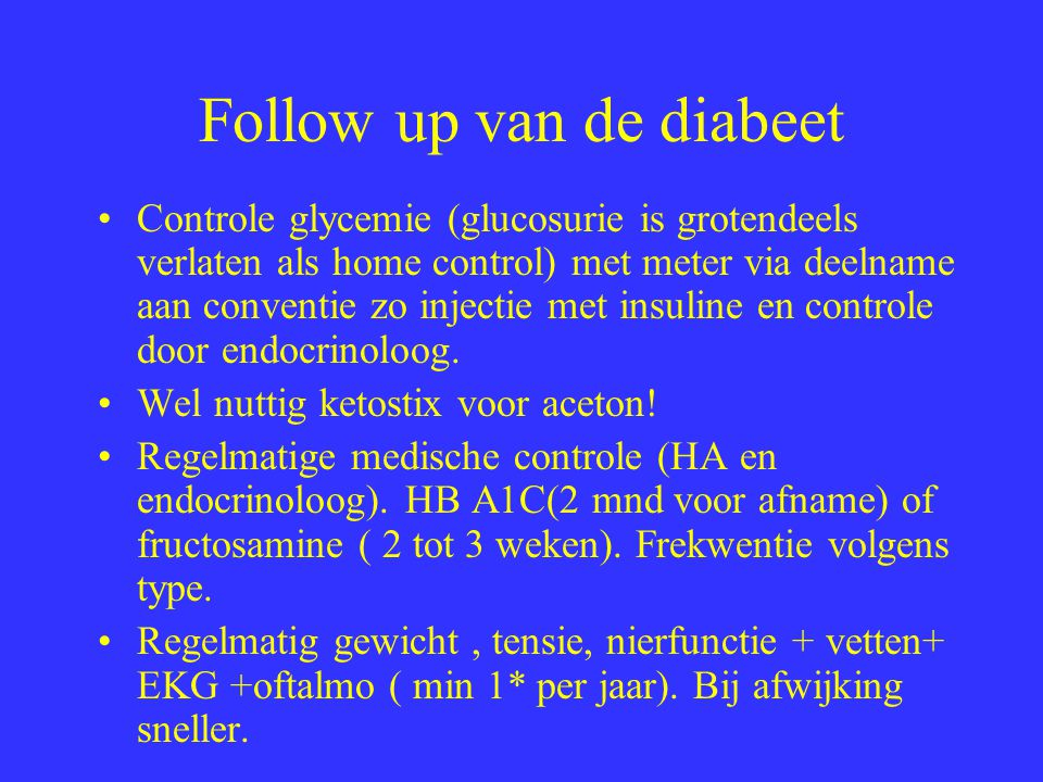 Follow up van de diabeet