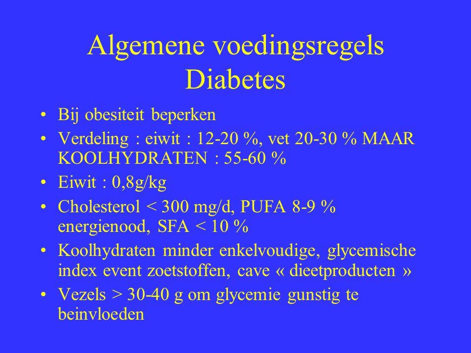 Algemene voedingsregels Diabetes