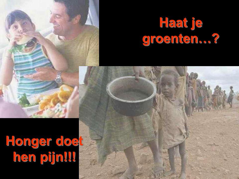 Haat je groenten… Honger doet hen pijn!!!