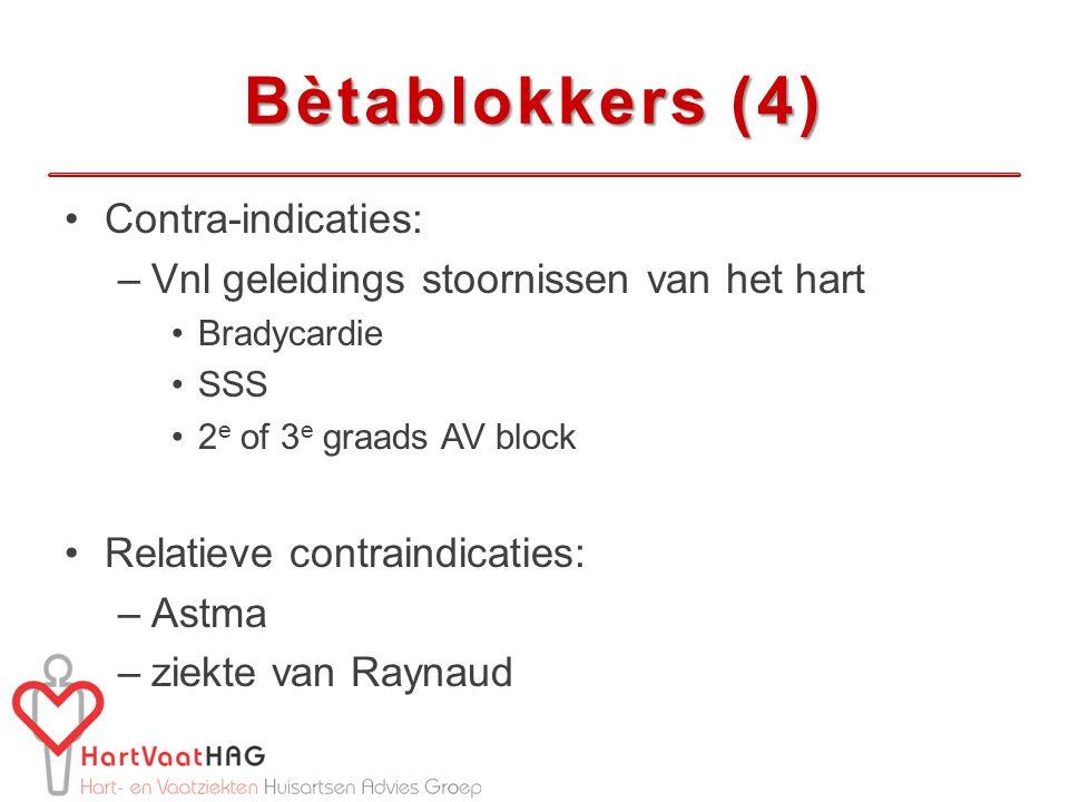 Bètablokkers (4) Contra-indicaties: