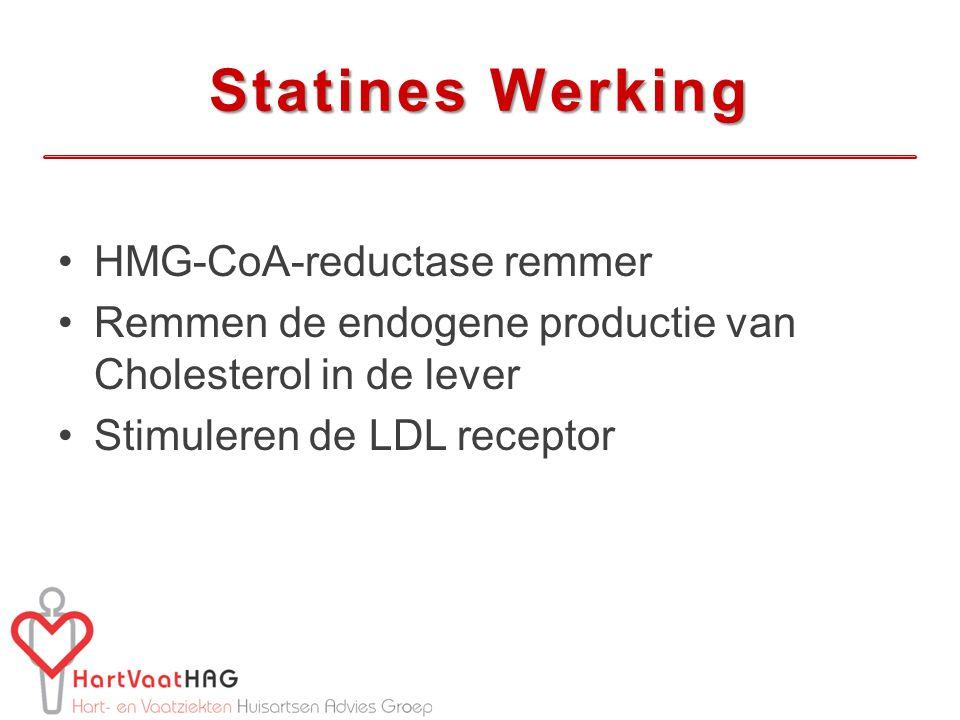 Statines Werking HMG-CoA-reductase remmer