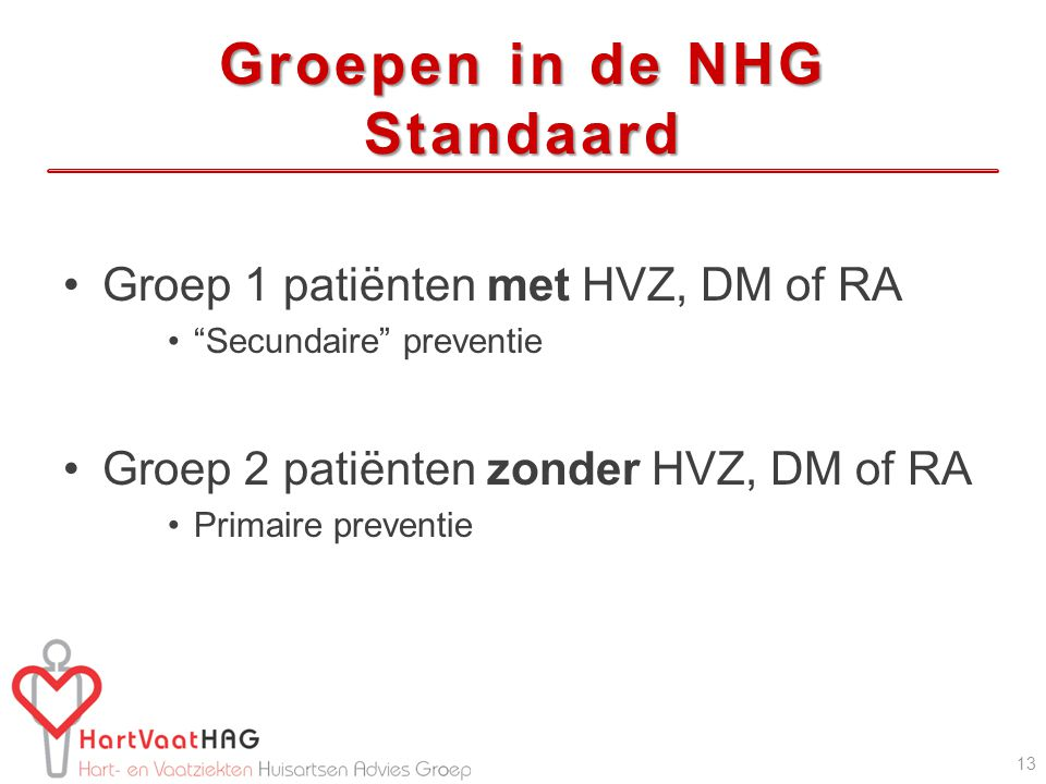 Groepen in de NHG Standaard