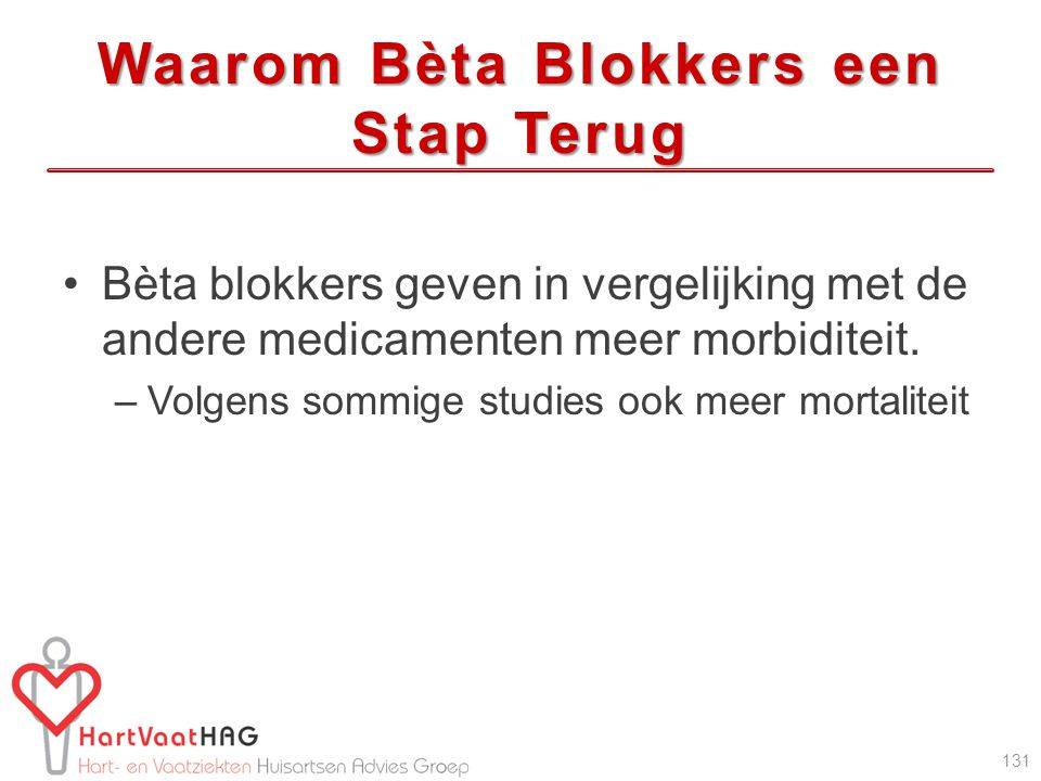 Waarom Bèta Blokkers een Stap Terug