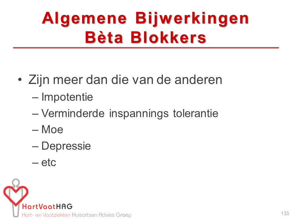 Algemene Bijwerkingen Bèta Blokkers