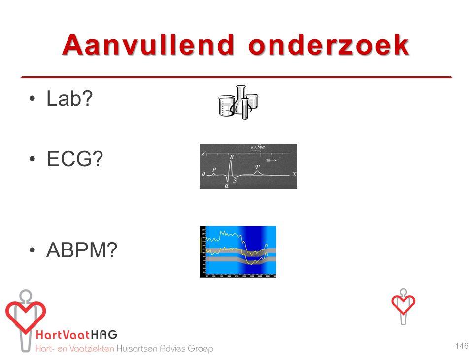 Aanvullend onderzoek Lab ECG ABPM