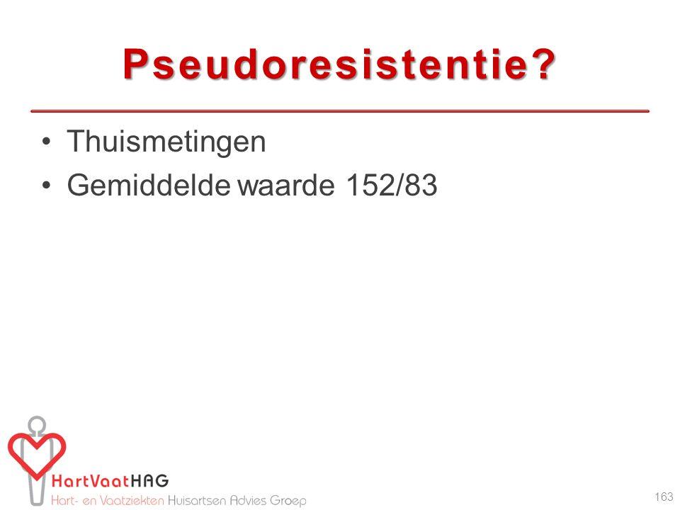 Pseudoresistentie Thuismetingen Gemiddelde waarde 152/83