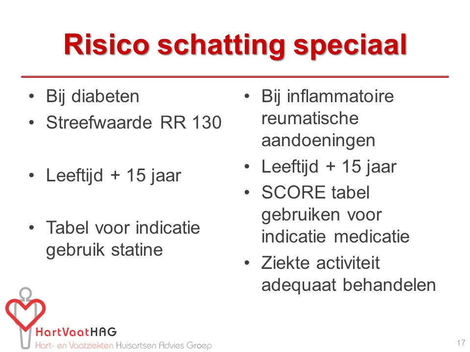 Risico schatting speciaal