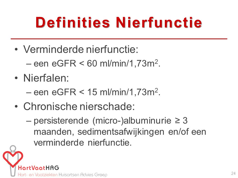 Definities Nierfunctie