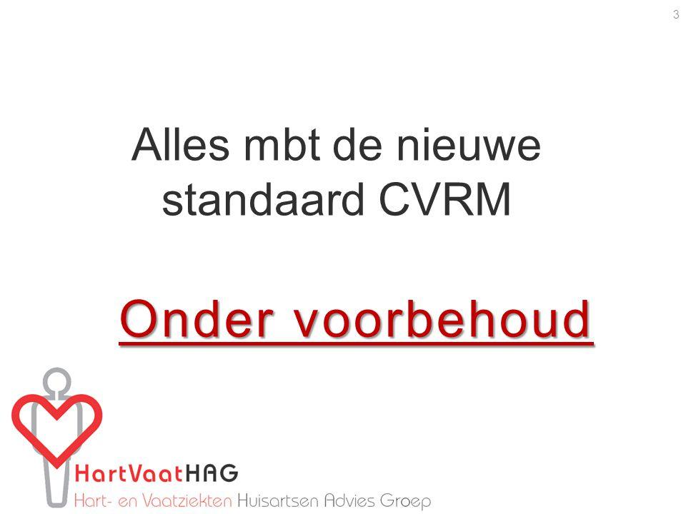 Alles mbt de nieuwe standaard CVRM