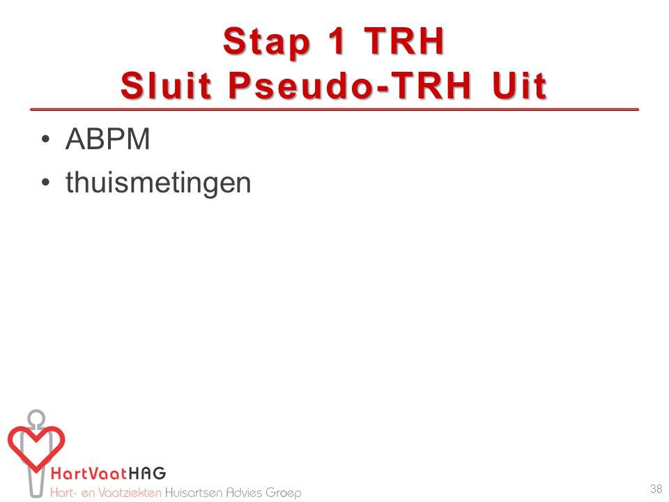 Stap 1 TRH Sluit Pseudo-TRH Uit