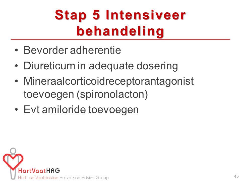 Stap 5 Intensiveer behandeling