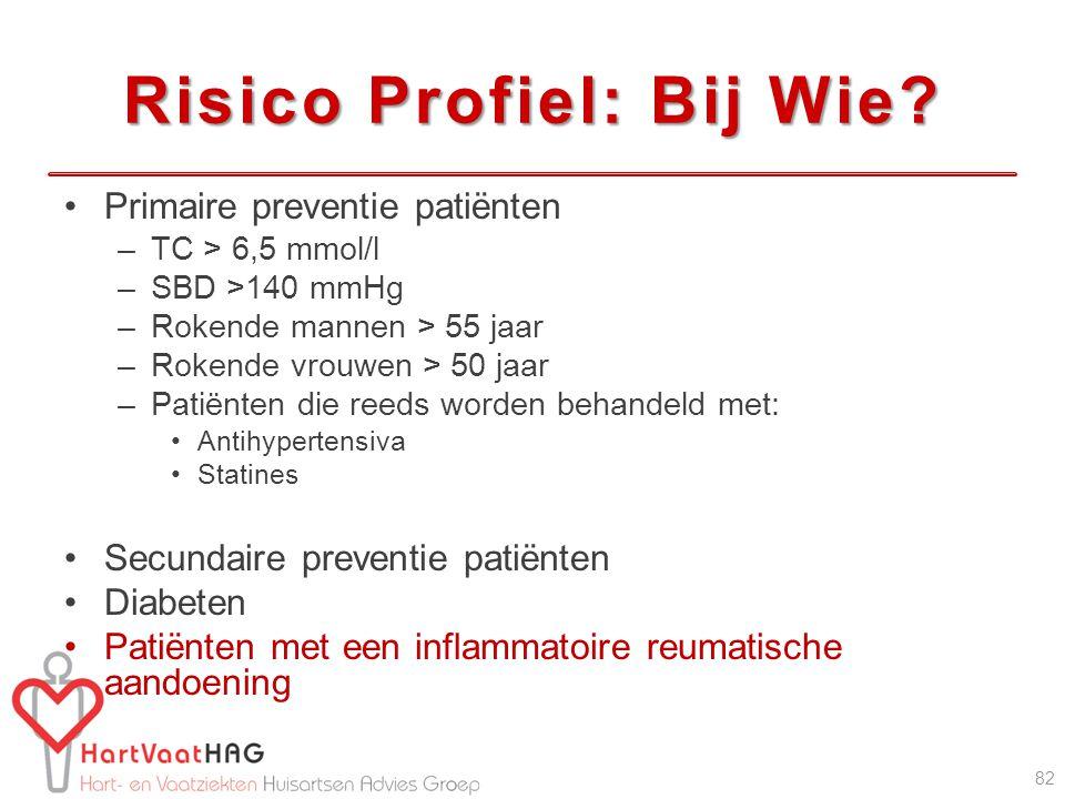 Risico Profiel: Bij Wie