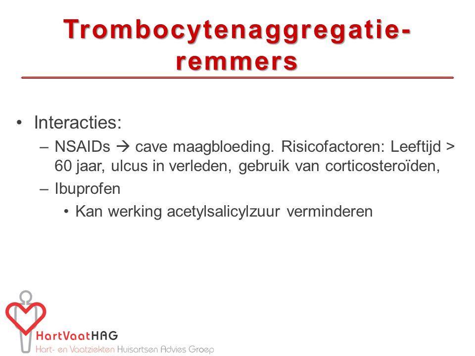 Trombocytenaggregatie-remmers