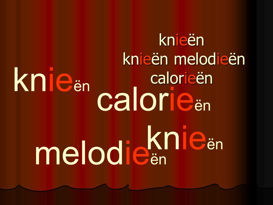 knieën knieën melodieën calorieën