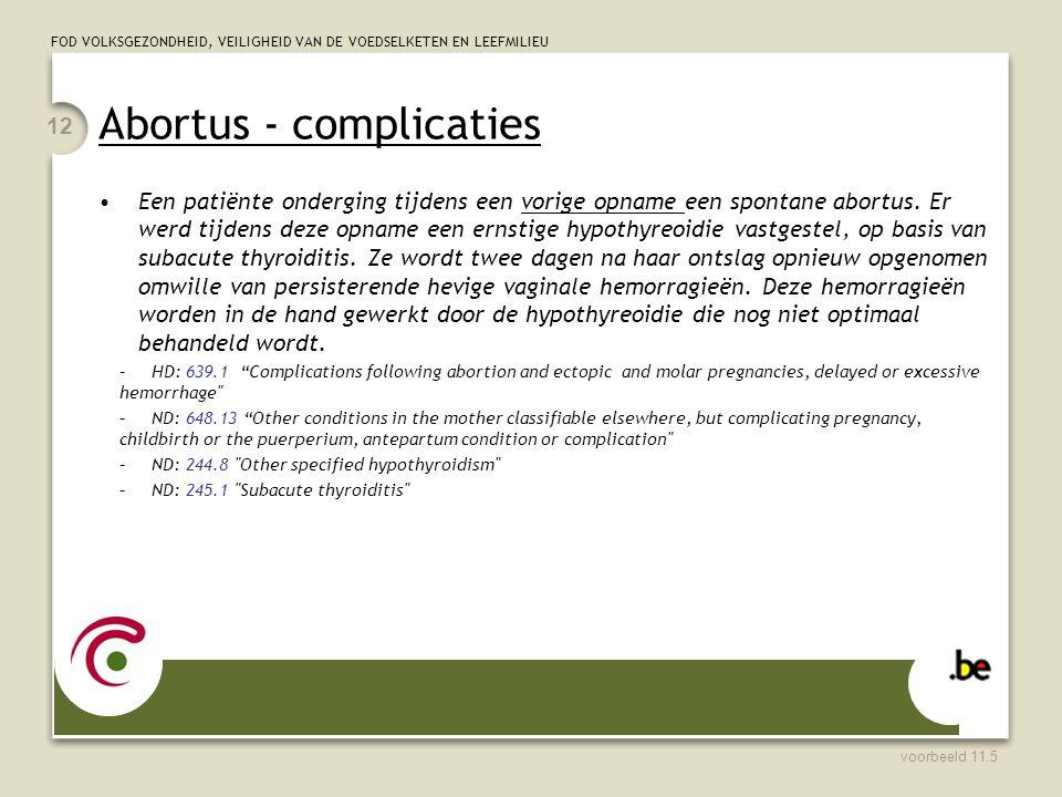 Abortus - complicaties