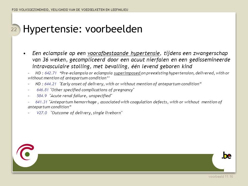 Hypertensie: voorbeelden