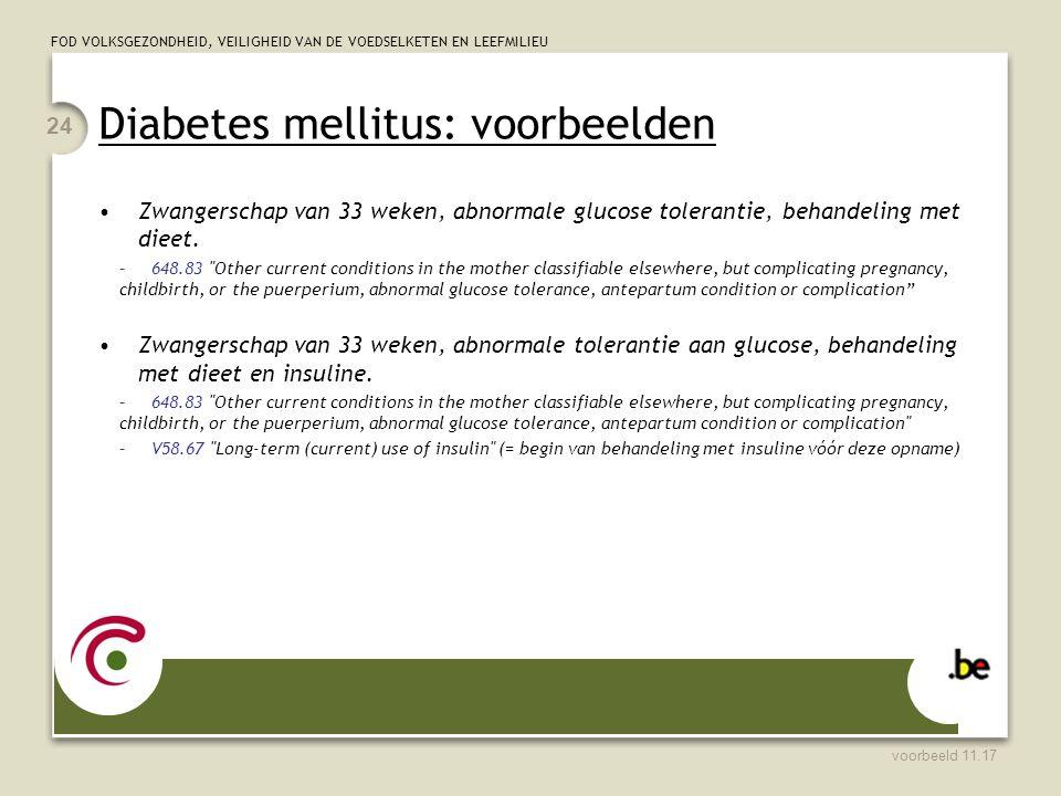 Diabetes mellitus: voorbeelden