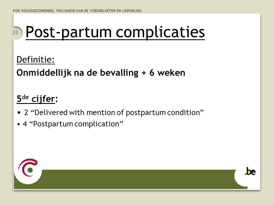 Post-partum complicaties