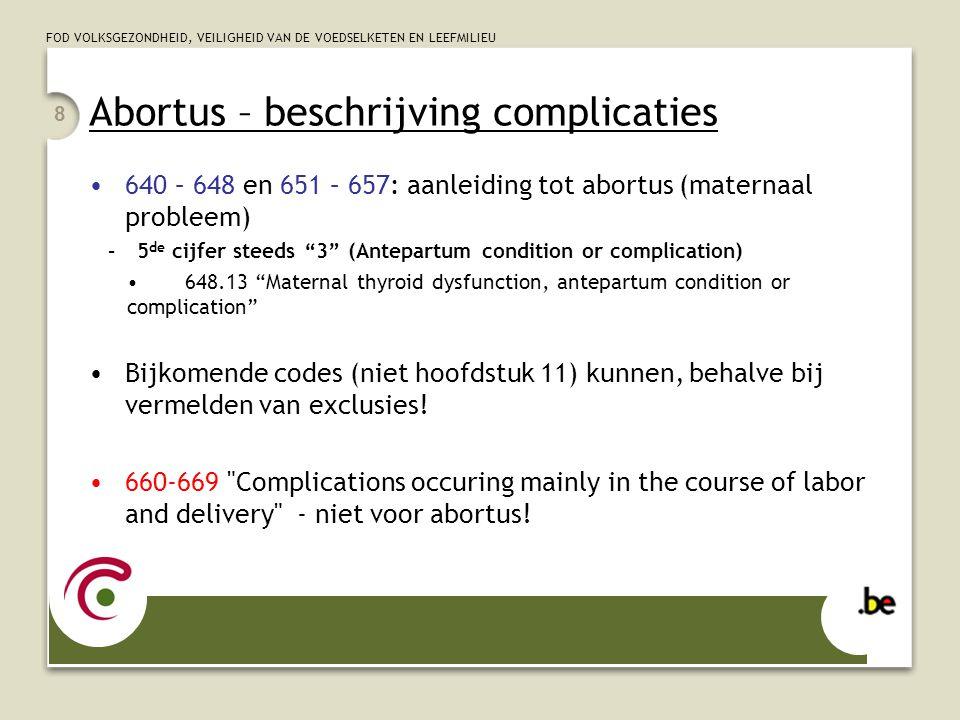 Abortus – beschrijving complicaties