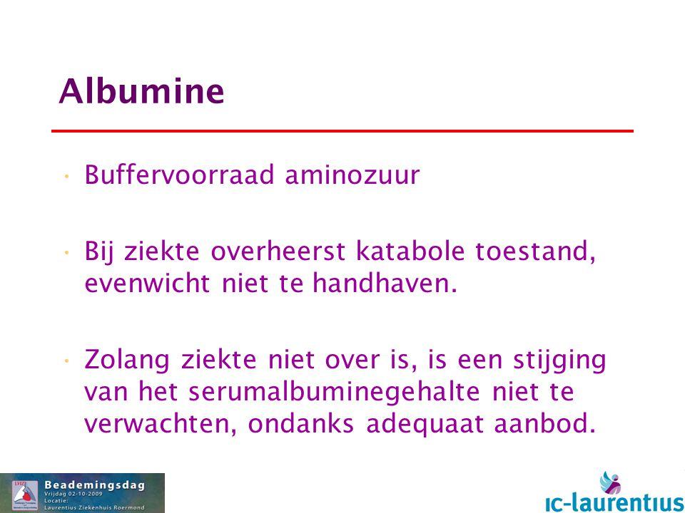 Albumine Buffervoorraad aminozuur