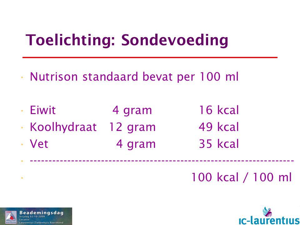 Toelichting: Sondevoeding