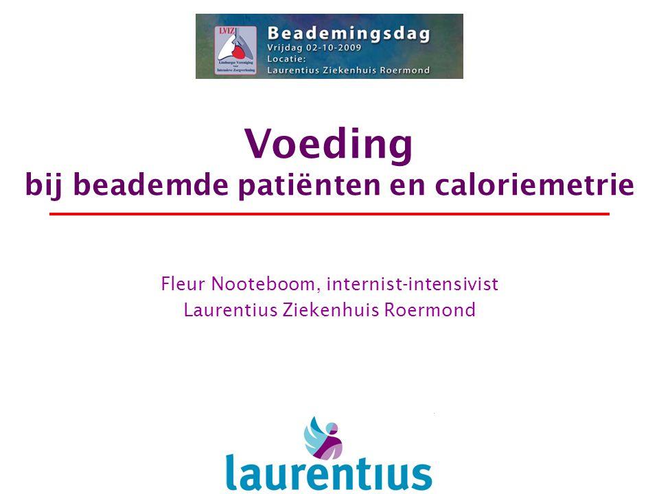 Voeding bij beademde patiënten en caloriemetrie