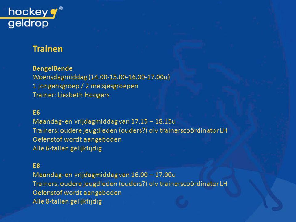 Trainen BengelBende Woensdagmiddag (14.00-15.00-16.00-17.00u)