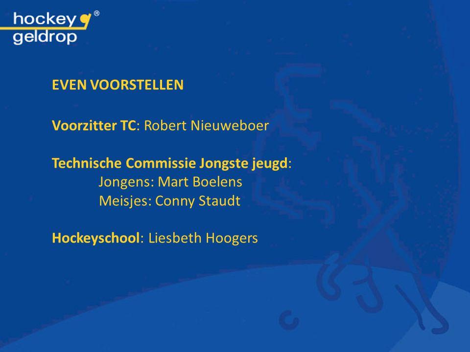 EVEN VOORSTELLEN Voorzitter TC: Robert Nieuweboer. Technische Commissie Jongste jeugd: Jongens: Mart Boelens.