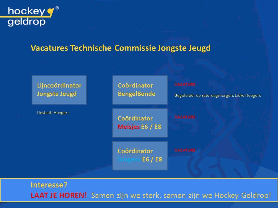 Vacatures Technische Commissie Jongste Jeugd