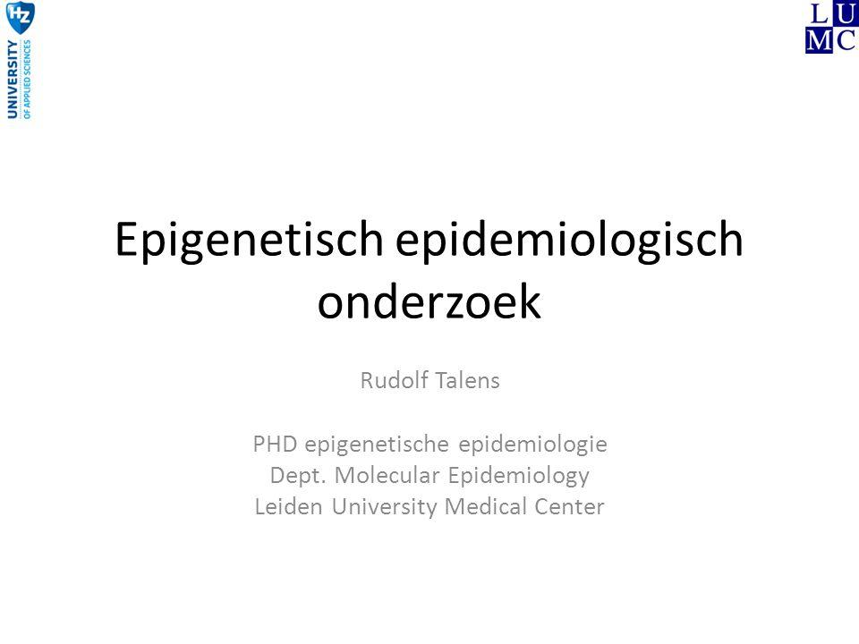 Epigenetisch epidemiologisch onderzoek