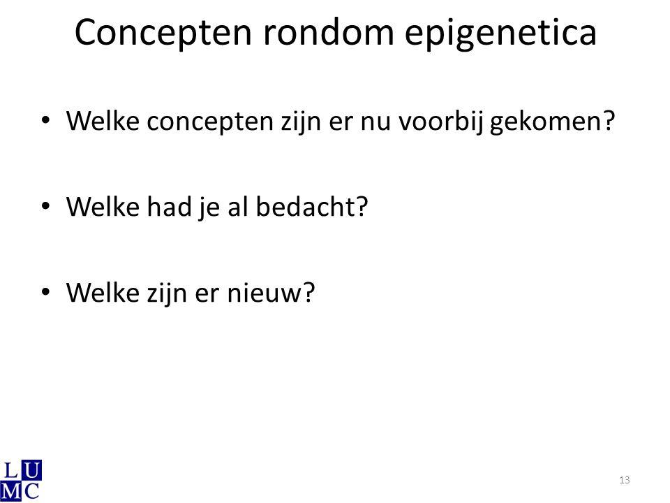 Concepten rondom epigenetica