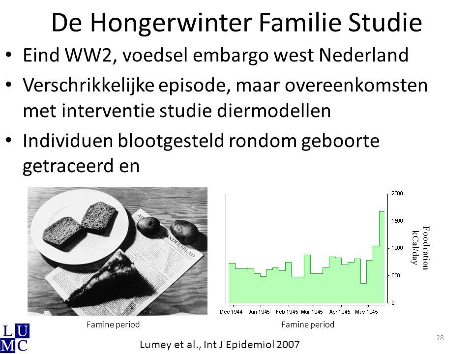 De Hongerwinter Familie Studie