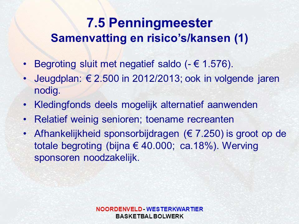 Samenvatting en risico's/kansen (1) NOORDENVELD - WESTERKWARTIER