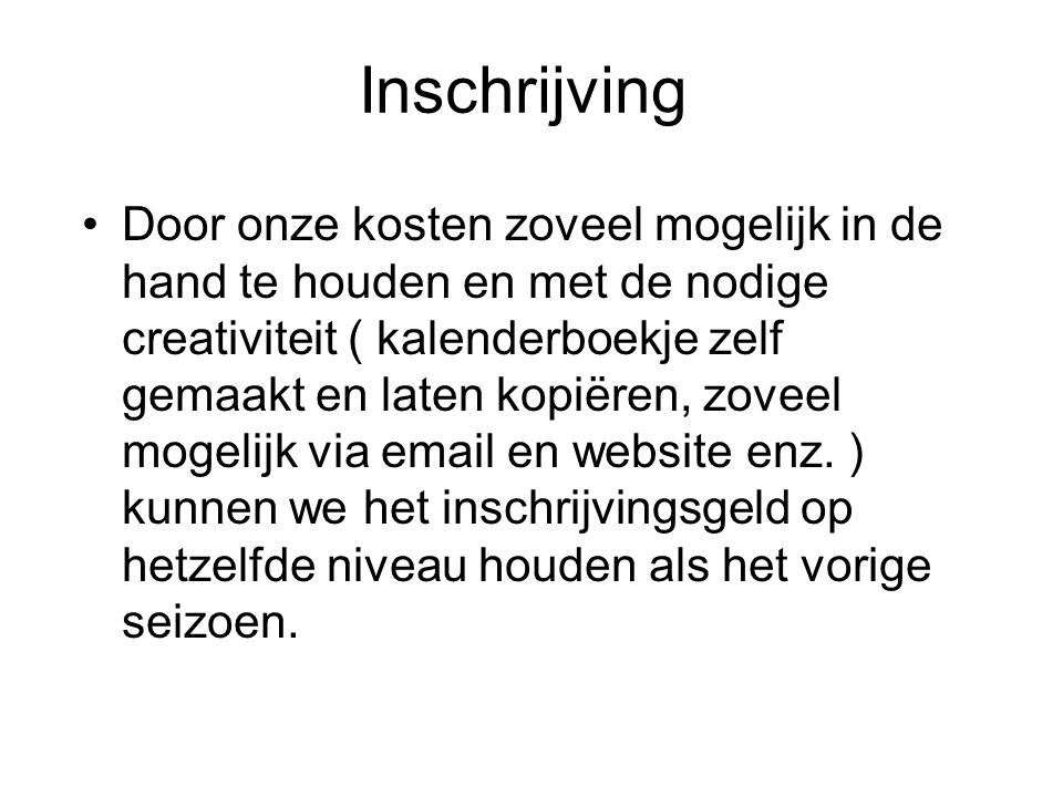Inschrijving
