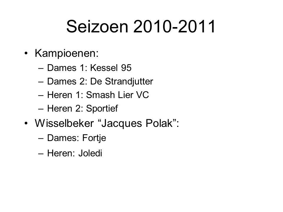 Seizoen 2010-2011 Kampioenen: Wisselbeker Jacques Polak :