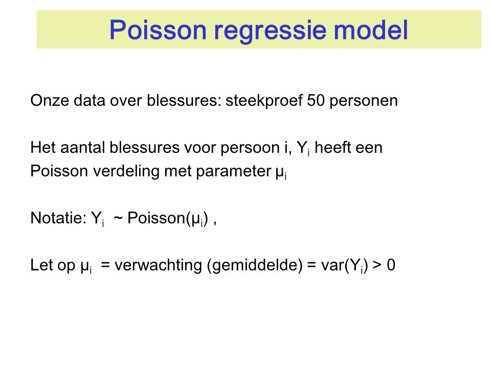 Poisson regressie model