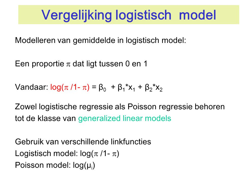 Vergelijking logistisch model