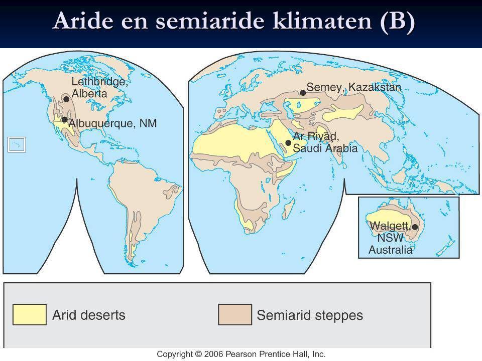 Aride en semiaride klimaten (B)
