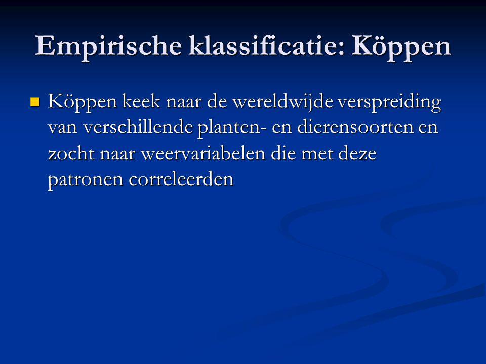 Empirische klassificatie: Köppen