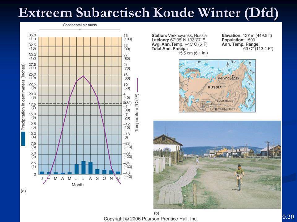 Extreem Subarctisch Koude Winter (Dfd)