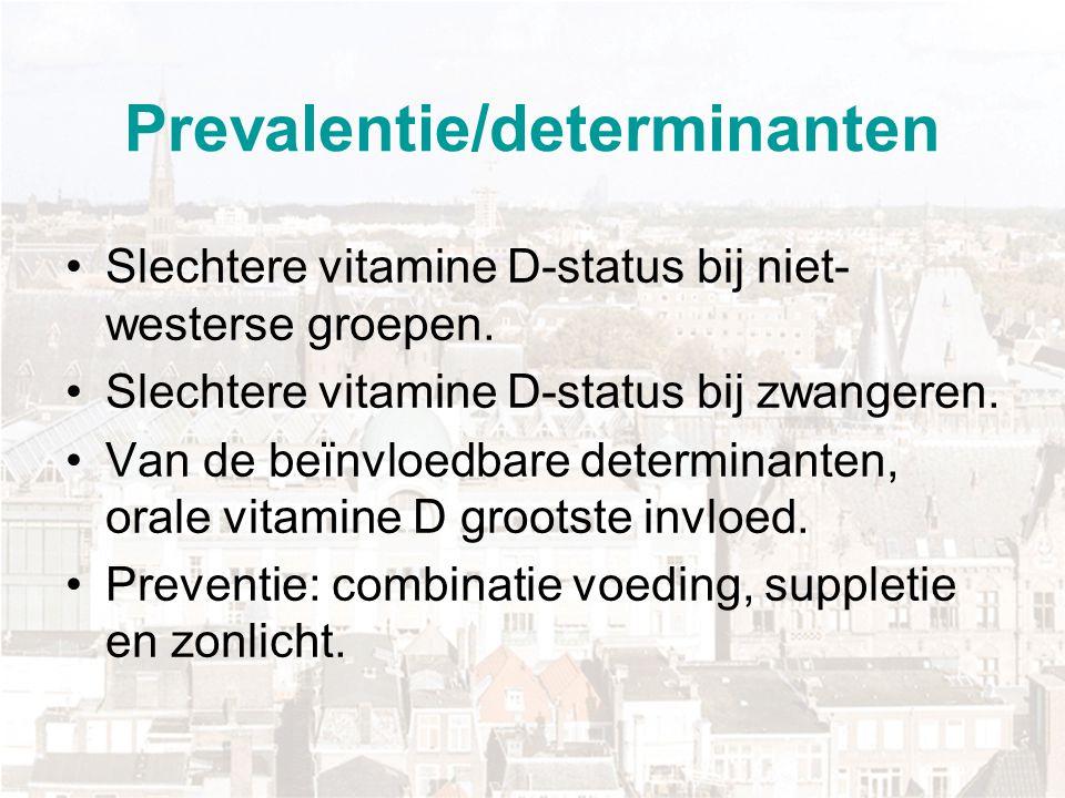 Prevalentie/determinanten