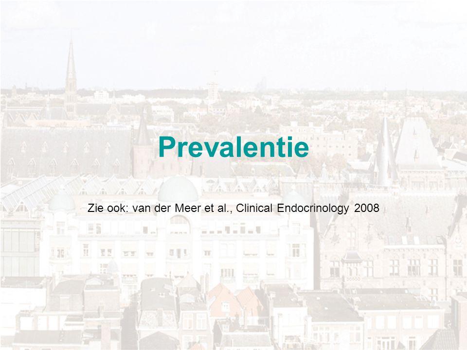 Zie ook: van der Meer et al., Clinical Endocrinology 2008