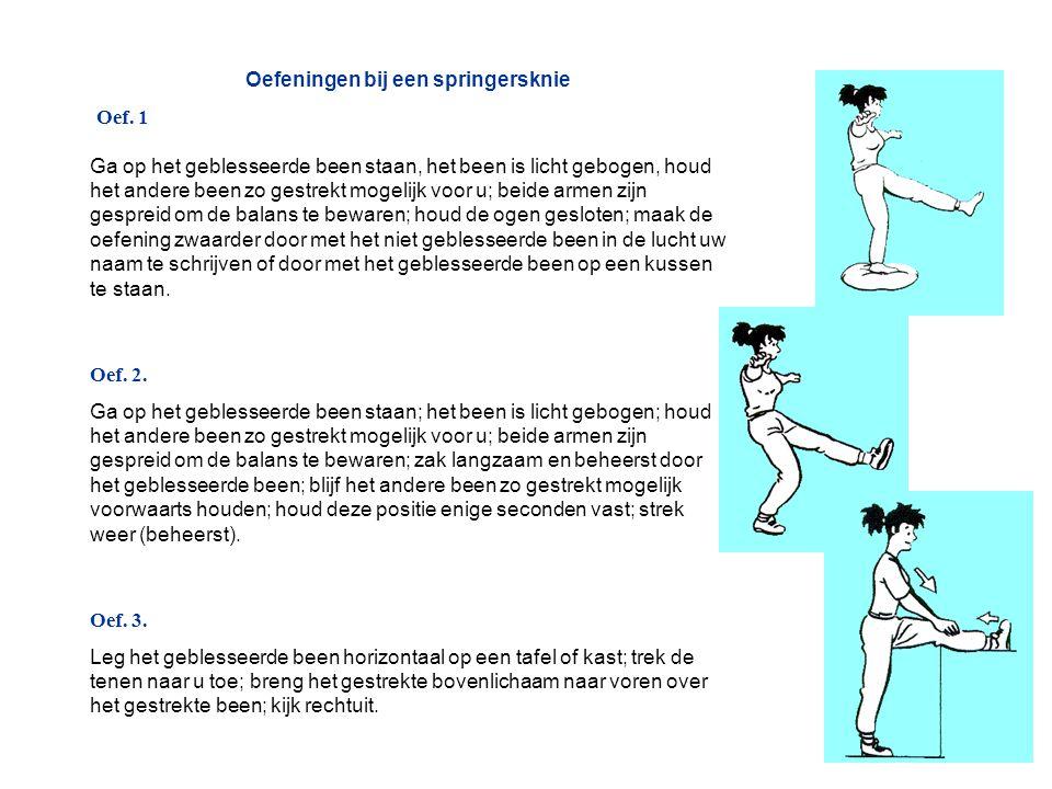 Oefeningen bij een springersknie