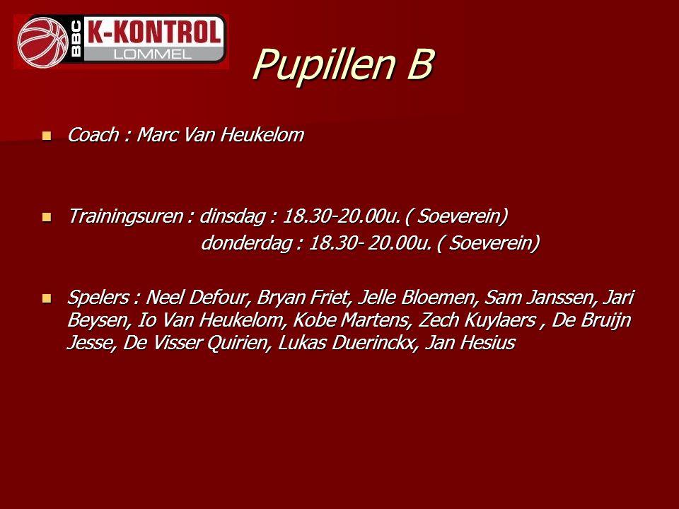 Pupillen B Coach : Marc Van Heukelom