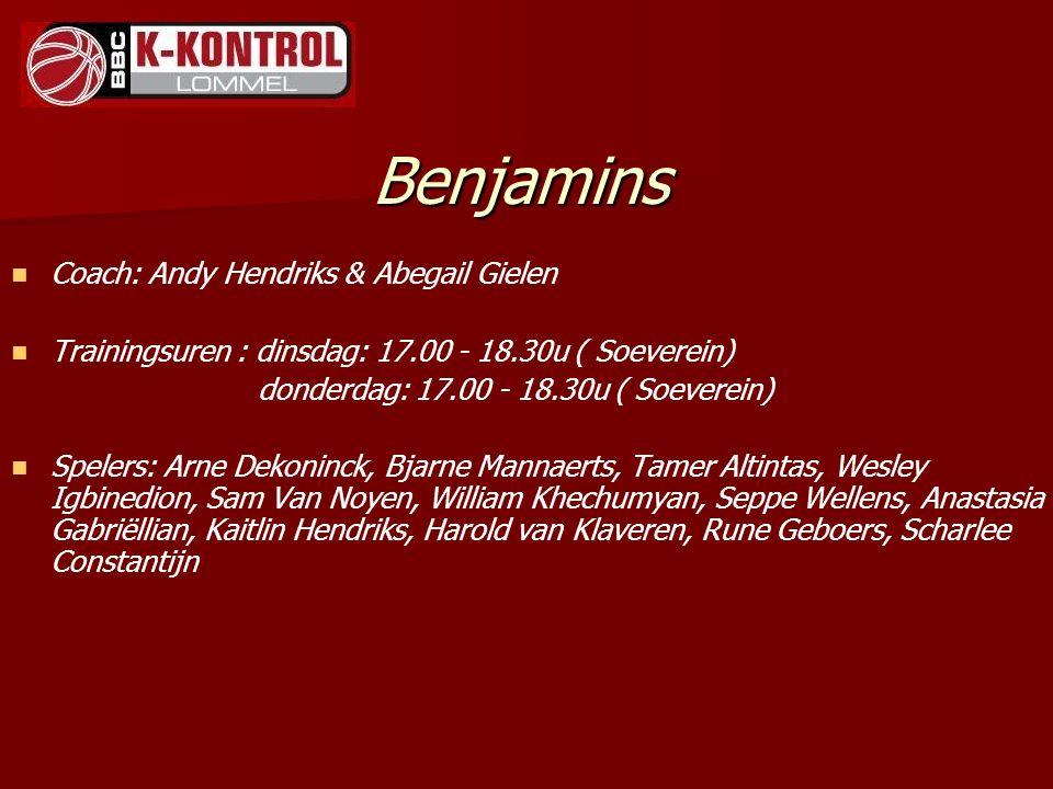 Benjamins Coach: Andy Hendriks & Abegail Gielen