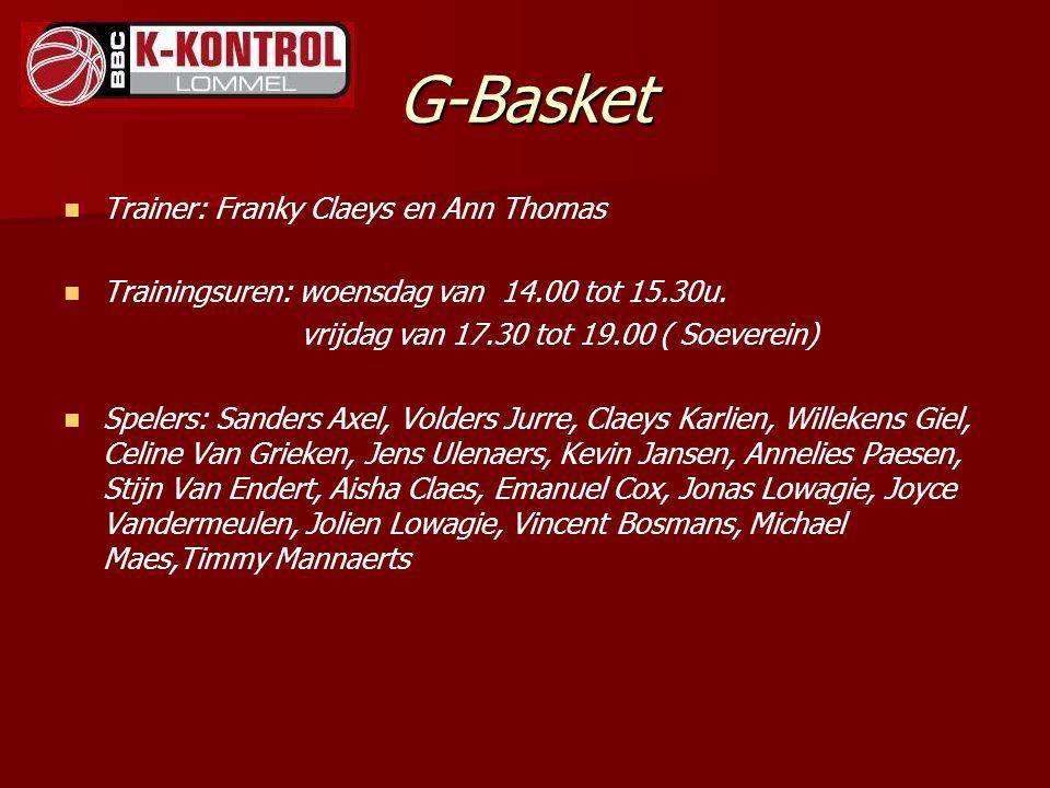 G-Basket Trainer: Franky Claeys en Ann Thomas