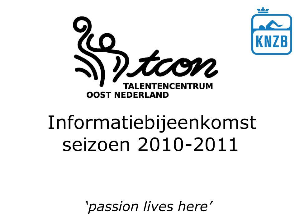 Informatiebijeenkomst seizoen 2010-2011