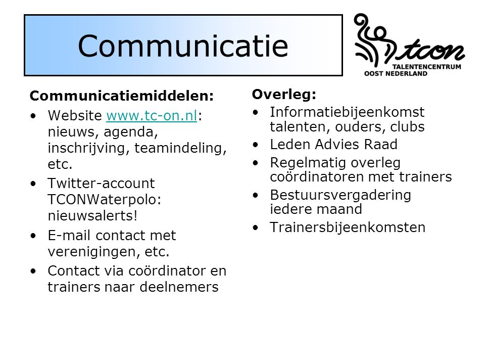 Communicatie Communicatiemiddelen: