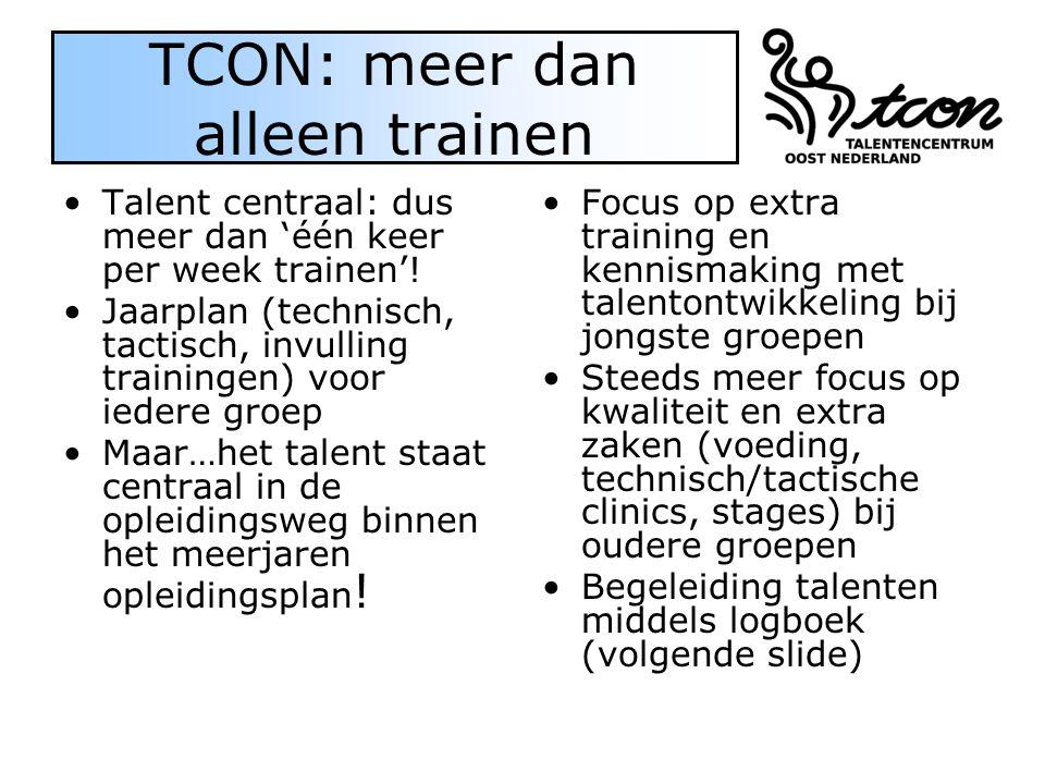 TCON: meer dan alleen trainen