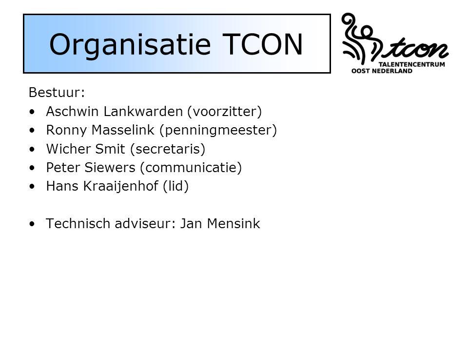Organisatie TCON Bestuur: Aschwin Lankwarden (voorzitter)
